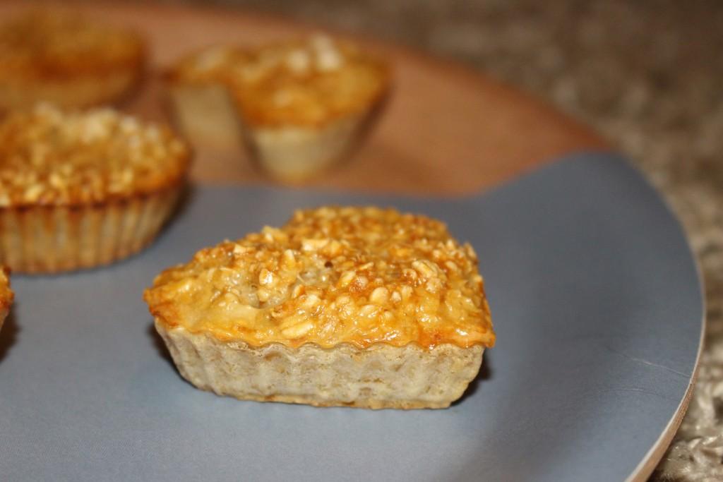 Muffins sains aux flocons d'avoine
