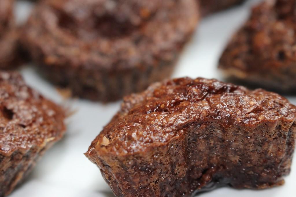 Muffins au chocolat crunchy au coeur coulant