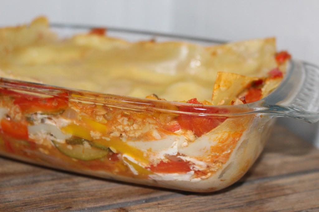 Lasagnes aux légumes et au soja
