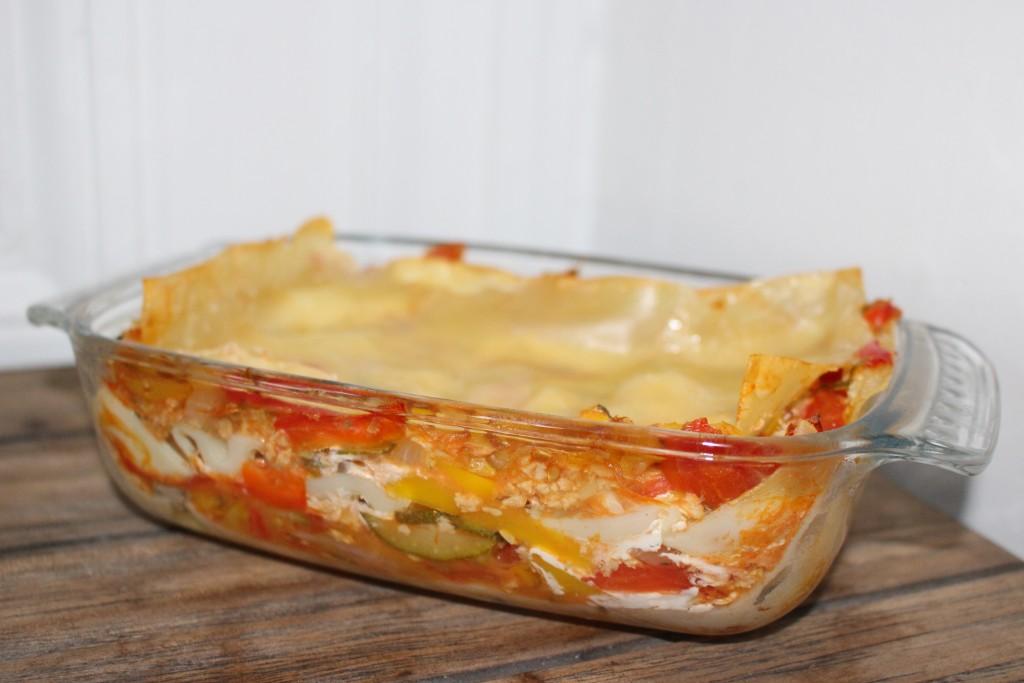 Lasagnes légumes et soja version veggie