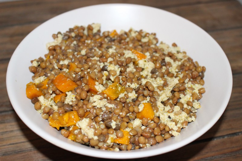 recette de salade de lentilles au potimarron dine move blog sport cuisine healthy. Black Bedroom Furniture Sets. Home Design Ideas