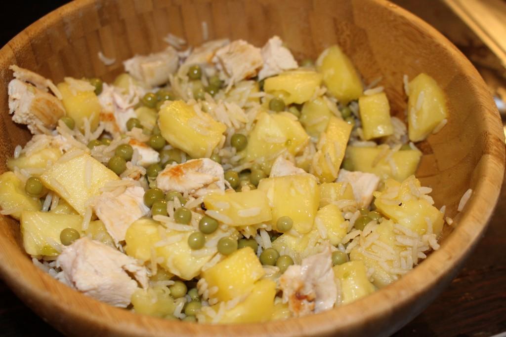 Riz thaï ananas et poulet