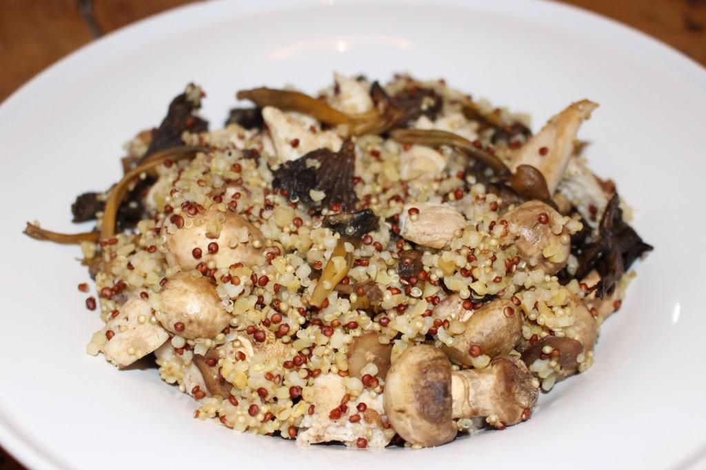 Poêlée forestière au quinoa