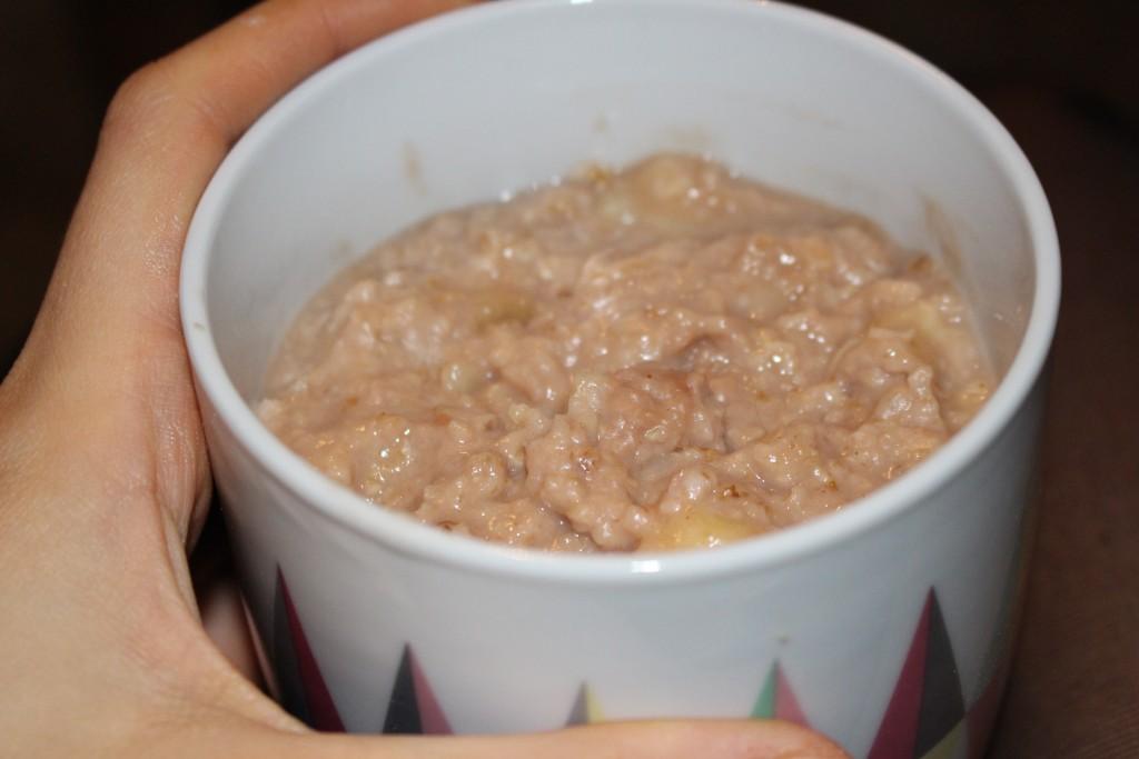Porridge à la whey au chocolat
