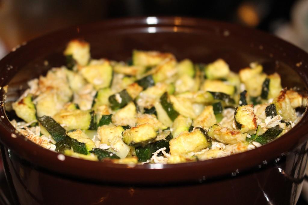 Crumble courgettes et flocons d'avoine