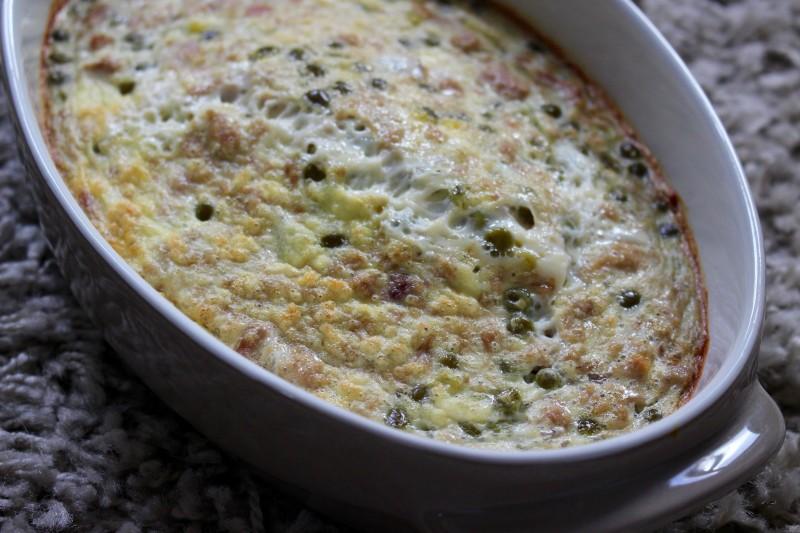 recette d 39 omelette au four thon et petits pois dine move blog sport cuisine healthy. Black Bedroom Furniture Sets. Home Design Ideas