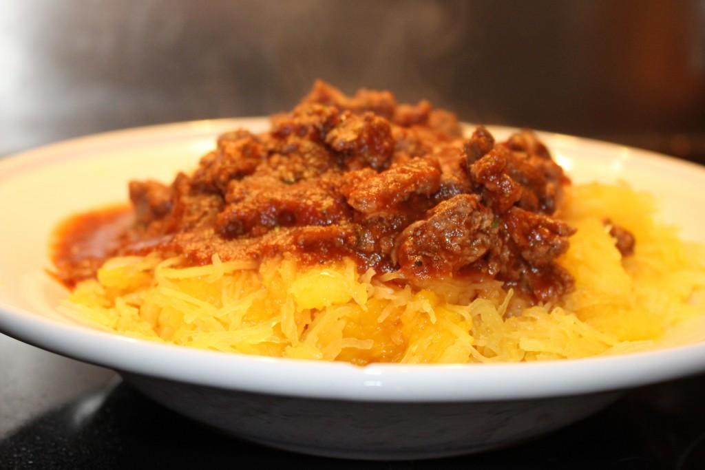Courge spaghettis façon pâte bolo