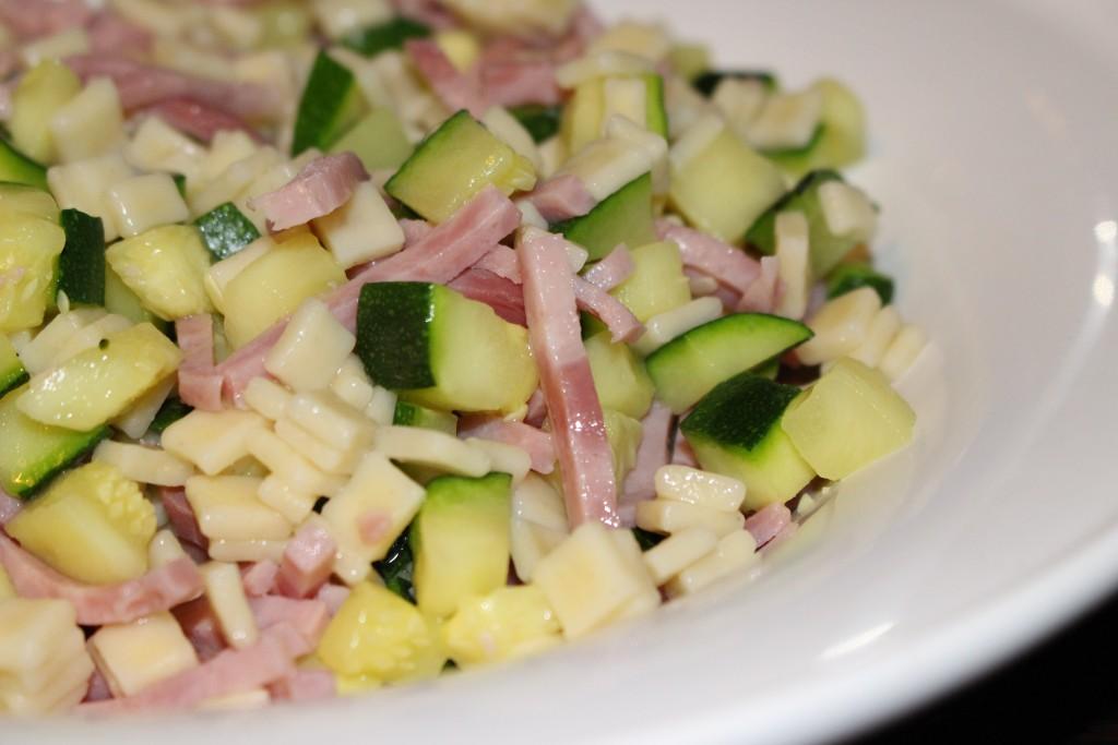 Crozets au jambon et aux courgettes