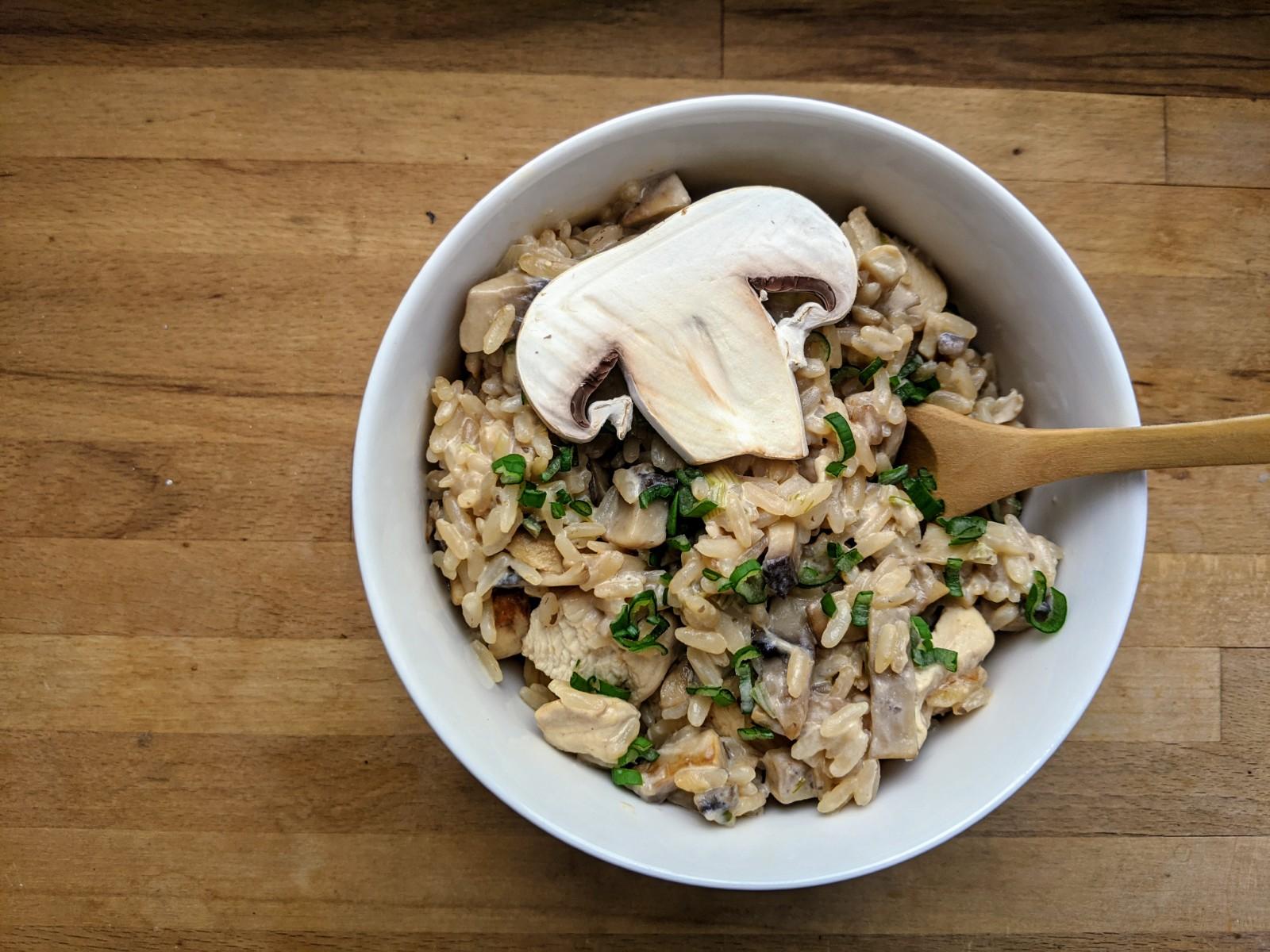 Recette de risotto poulet champignons Weight Watchers ...